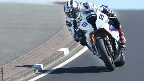 Michael Dunlop during Superbike practice