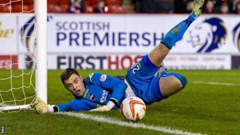 Ross County goalkeeper Michael Fraser