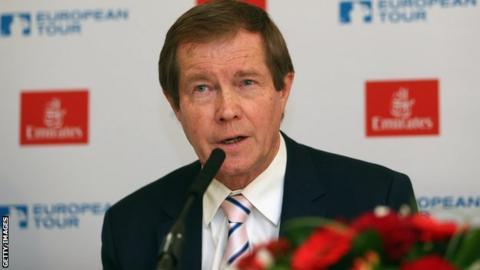 European Tour chief executive George O'Grady
