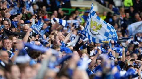 St Johnstone fans celebrating