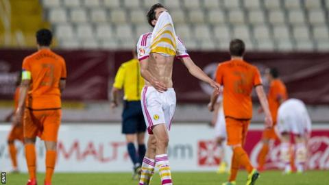 Scotland's Ryan Hardie cannot hide his disappointment