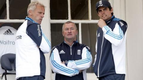 Peter Moores, Paul Farbrace & Alastair Cook