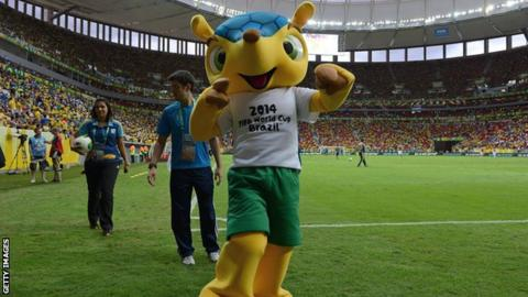 World Cup mascot Fuleco