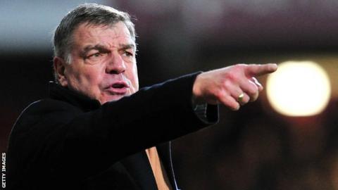 Former West Ham manager Sam Allardyce