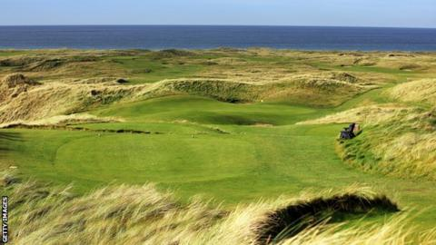 The view of the par-three 14th hole at Ballyliffin's Glashedy course