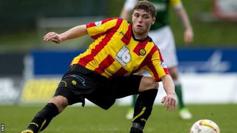 Partick Thistle midfielder Gary Fraser