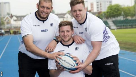Gordon Reid, Finn Russell and Kevin Bryce