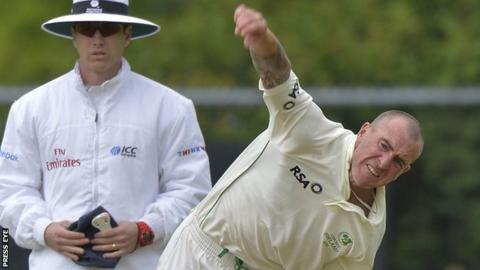 John Mooney took three North West Warriors wickets in Tuesday's weather-affected opening day