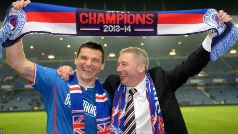 Rangers captain Lee McCulloch and manager Ally McCoist