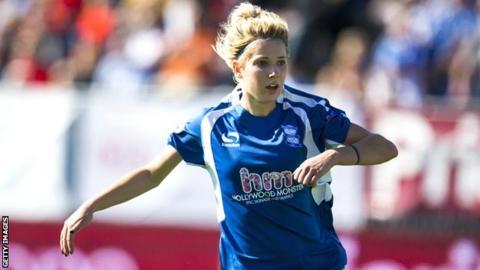 Birmingham striker Kirsty Linnett