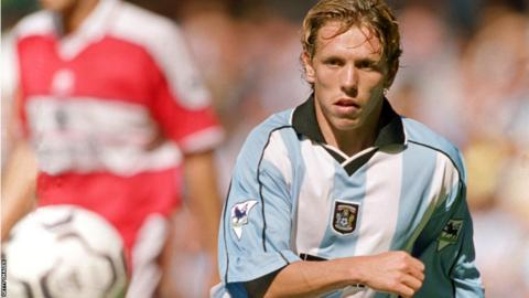 Bellamy playing for Coventry City in 2000/01 season