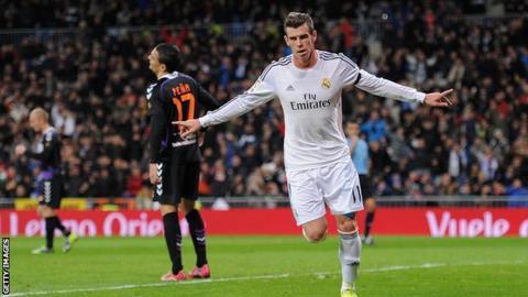 Bale celebrates goal