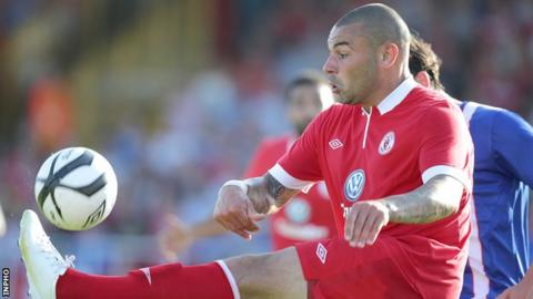 Anthony Elding in action for Sligo Rovers