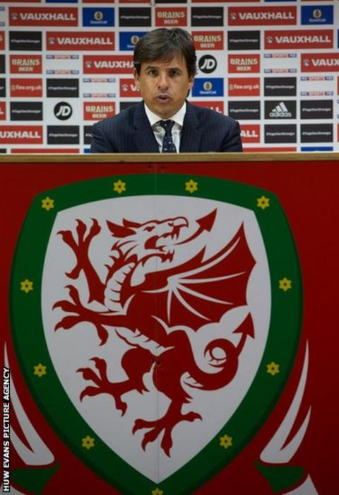 Wales manager Chris Coleman announces his squad for the June friendly against the Netherlands at a press conference in Cardiff.