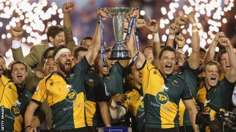 Northampton win the Amlin Challenge Cup