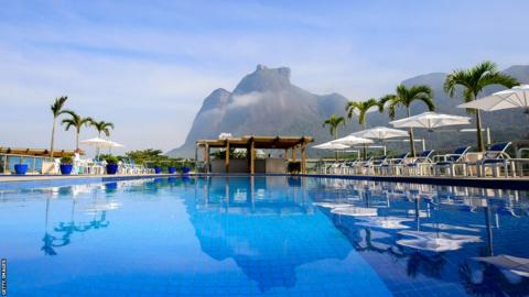The pool at the Royal Tulip Hotel on Sao Conrado Beach