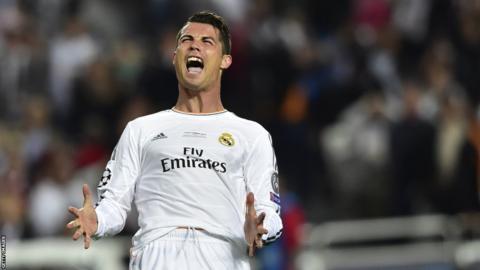 Cristiano Ronaldo in the Champions League final