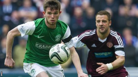 Sam Stanton in action for Hibs