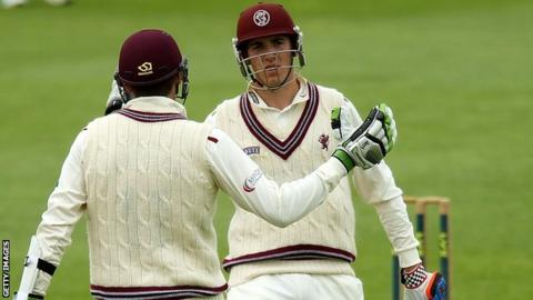 Jamie Overton and Craig Overton for Somerset