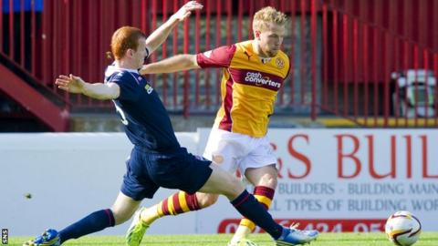 Scott Boyd tackles Henri Anier
