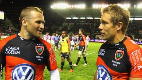 Matt Giteau and Jonny Wilkinson