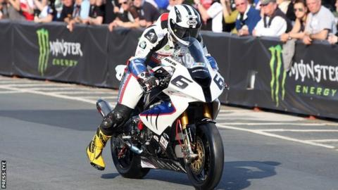 Michael Dunlop on board his BMW machine