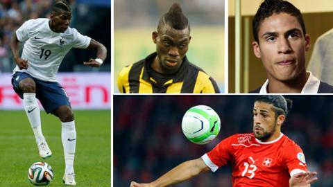 Paul Pogba, Christian Atsu, Raphael Varane, Ricardo Rodriguez