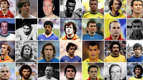 A selection of players on the Global XI shortlist