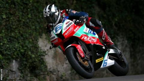 Michael Dunlop was fastest in practice at the Isle of Man TT