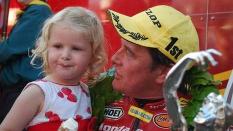 John McGuinness with his daughter Maisie