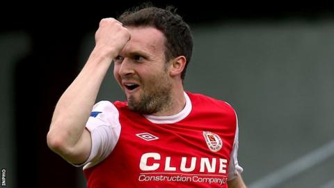 Christy Fagan scored a hat-trick for St Pat's against Derry City