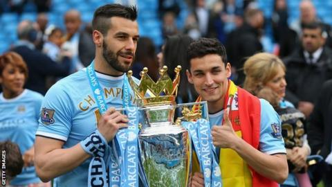 Alvaro Negredo and Jesus Navas