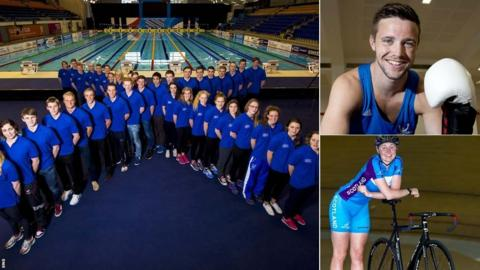 Scotland's Glasgow 2014 Swim team, boxer Josh Taylor and cyclist Katie Archibald