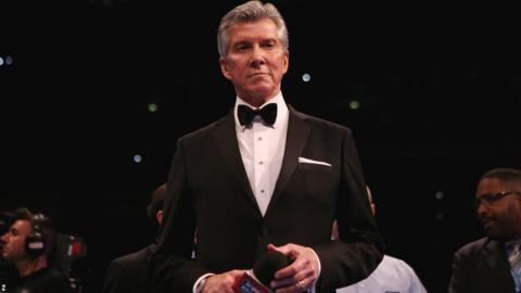 "Legendary master of ceremonies Michael Buffer introduced both fighters before bellowing his famous catchphrase, ""Let's get ready to rumble!"""