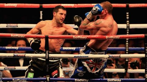 While George Groves was shading the early rounds, Carl Froch dominated from the centre of the ring and caught the challenger with some powerful shots