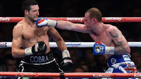 There was little to separate the two fighters, with George Groves managing to counter most of Carl Froch's thunderous shots