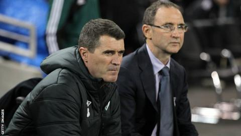 Roy Keane (left) and Martin O'Neill