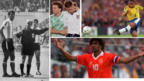 Photo montage of World Cup moments