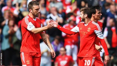 Rickie Lambert and Adam Lallana