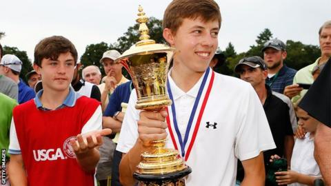 Matthew Fitzpatrick won the Amateur US Open in 2013 with his younger brother as his caddy