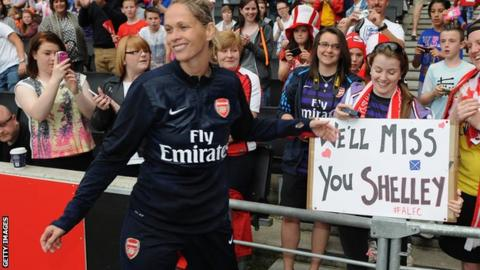 Shelley Kerr after Arsenals' FA Cup final win