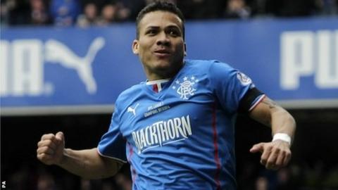 Rangers midfielder Arnold Peralta