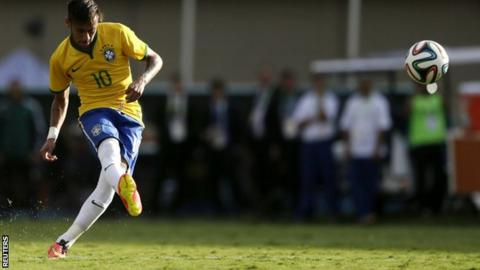 Neymar scores one and sets up another in Brazil friendly win