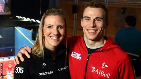 Laura Massaro and Nick Matthew