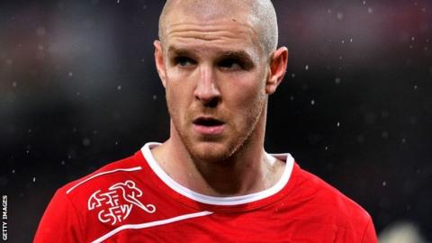 Philippe Senderos lining up for Switzerland