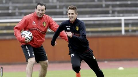 Marc Wilmots and Adnan Januzaj