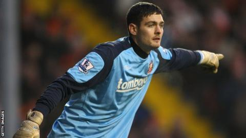 Craig Gordon playing for Sunderland