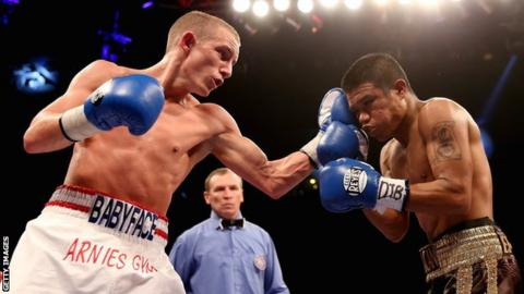 Boxer Paul Butler in action