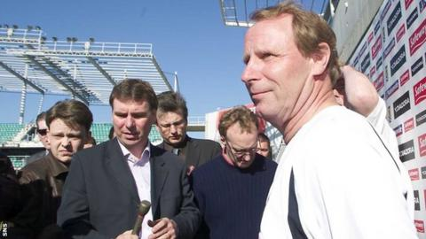 Berti Vogts had a tough time as Scotland manager