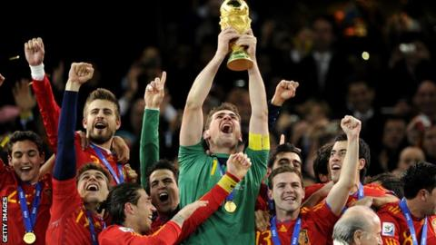BBC & ITV World Cup rights - Spain's Iker Casillas in 2010